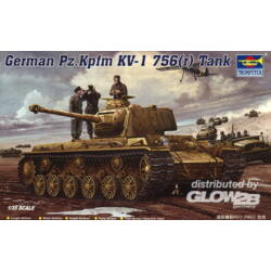 Trumpeter German Pz.Kpfm. KV-1 756(r) Tank 1:35 (366)