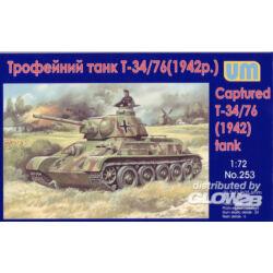 Unimodel T-34-76 WW2 captured tank, 1942 1:72 (253)
