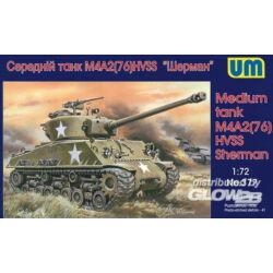 Unimodel Medium tank M4A2(76)W HVSS 1:72 (377)