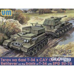 Unimodel Retriever on T-34 basis with SPG Su-76 1:72 (397)