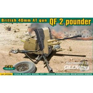 ACE QF 2 pounder British 40mm AT gun 1:72 (72504)