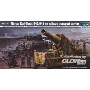Trumpeter Mörser Karl Gerät 040/041 auf Eisenbahn-Transport-Trailer 1:35 (00209)