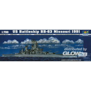 Trumpeter Schlachtschiff USS Missouri BB-63 1991 1:700 (05705)