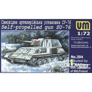 Unimodel Self-propelled gun SU-76 1:72 (304)