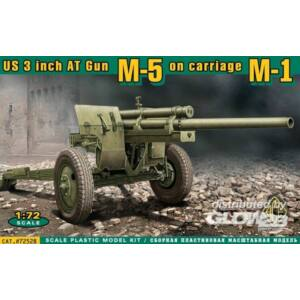 ACE U.S. 3inch anti-tank gun M-5 on carriage 1:72 (72528)