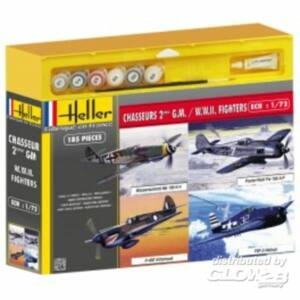 Heller Model Set Chasseurs 2eme Guerre Mondiale (4 modele 1:72 (53002)