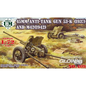 Unimodel 45mm Antitank guns 53-K (1937) and M42 (1942) 1:72 (409)