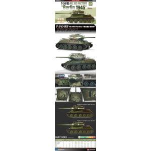 "Academy T-34:85 No.183 factory ""Berlin 1945"" 1:35 (13295)"