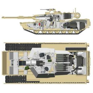 Rye Field Model M1A1/A2 Abrams w/Full Interior 2 in 1 1:35 (5007)