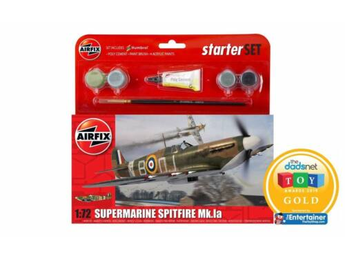 Airfix Starter Set Spitfire Mk1a (new tool) 1:72 (A55100)