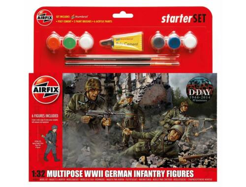 Airfix WWII German Infantry Multipose Starter Set 1:32 (A55210)