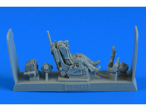 Aerobonus Soviet Fighter Pilot with ej. Seat for Su-27 Flanker (early, late v.)f.HB/ACA/ 1:48 (480.211)