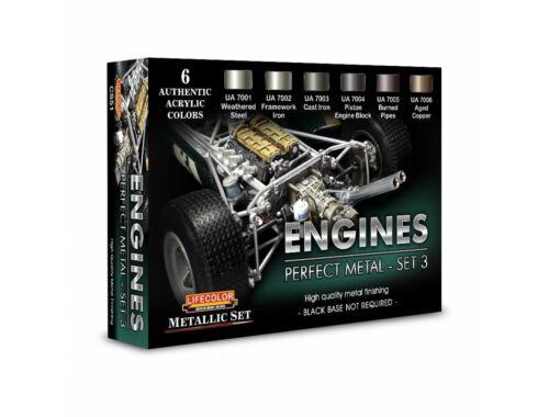 Lifecolor Engines Perfect Metal - Set 3  (CS51)