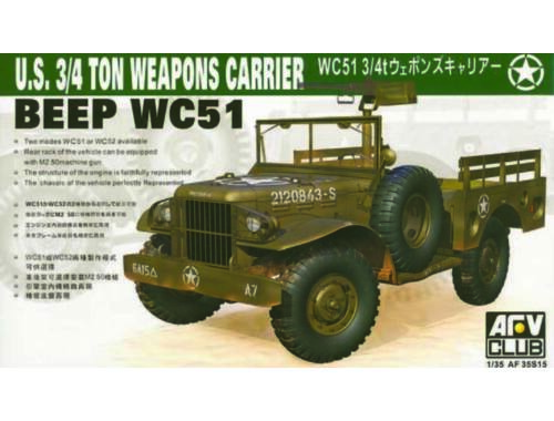 AFV-Club WC-51 4X4 WEAPONS CARRIER DODG 1:35 (35S15)