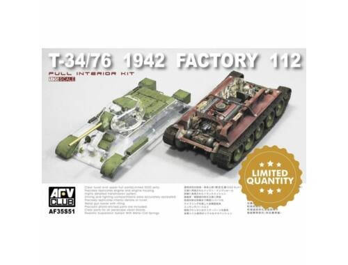 AFV-Club T-34/76 1942 Factory 112 w.transparent turret turret (Limited) 1:35 (AF35S51)