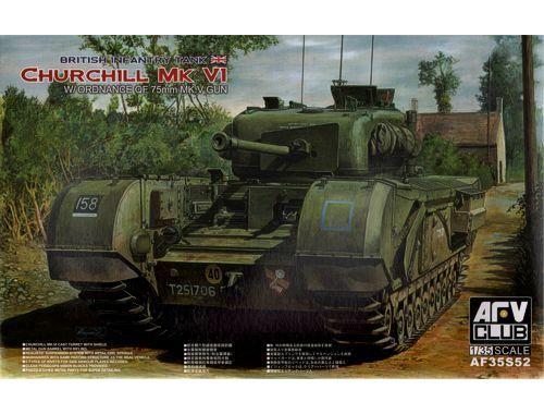 AFV-Club Churchill MK VI/75mm GUN (Limited) 1:35 (AF35S52)