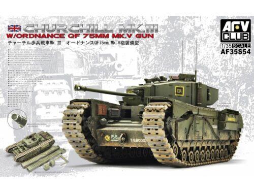AFV-Club Churchill Mk.3/75mm (limited edition kit 1:35 (AF35S54)