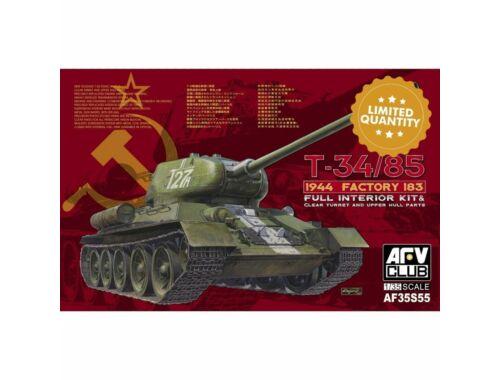AFV-Club T-34/85 1944 Factory 183(LIMITED)w.trans transparent turret 1:35 (AF35S55)