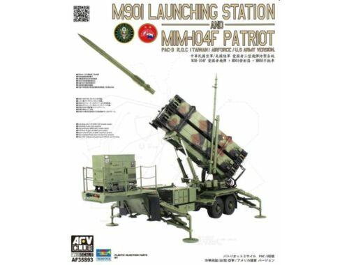 AFV-Club M901 Launching Station an MIM-104F Patriot PAC-3 ROC(Taiwan)US Army Version 1:35 (AF35S93)