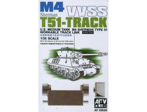 AFV-Club M4/M3 T51 SHERMAN TRACKS 1:35 (35026)