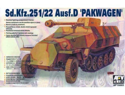 AFV-Club SDKFZ 251/22 AUSF D PAK40 1:35 (35083)