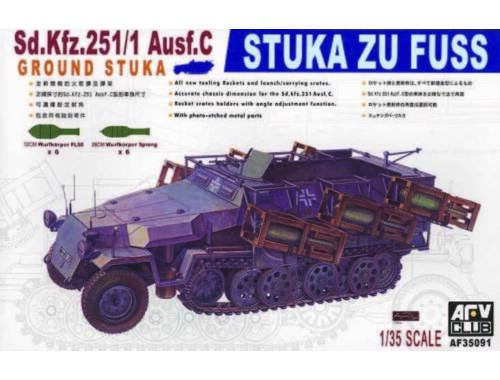 AFV-Club SDKFZ 251/1 AUSF C STUKA ZU FUSS 1:35 (35091)