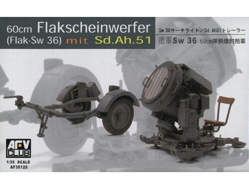 AFV-Club SW-36 / 60 cm SEARCHLIGHT w/SDANH 51 TRAILER 1:35 (35125)