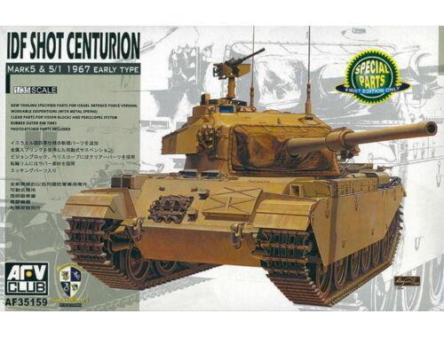 AFV-Club IDF Shot Centurion Mark 5 & 5/1 1967 Early Type 1:35 (35159)
