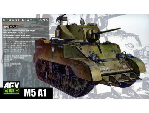 AFV-Club US M5A1 Late type w/Hedgerow cutter 1:35 (35161)