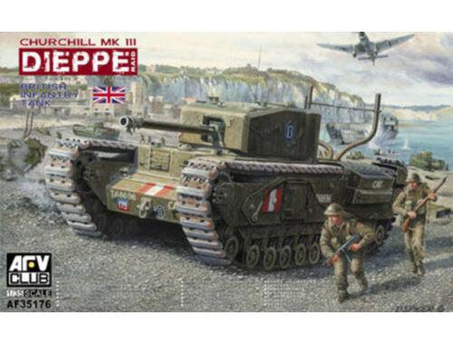 AFV-Club Churchill Mk.3 (Dieppie)Includ. Workable 1:35 (AF35176)