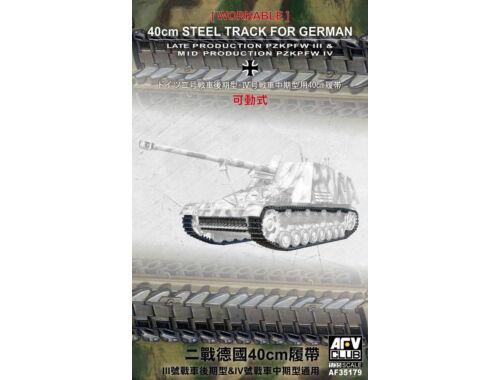 AFV-Club 40cm Workable Tracks for tank III/IV 1:35 (35179)