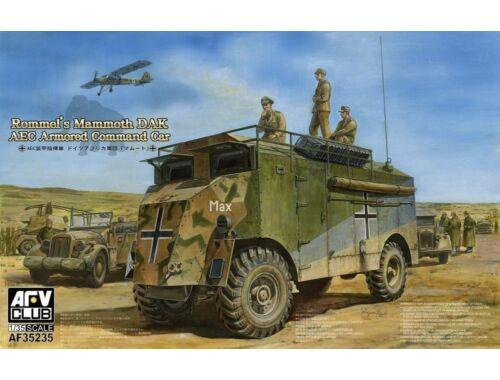 AFV-Club AEC Armoured Commander Car of Rommel-Mam Mammoth (DAK) 1:35 (AF35235)