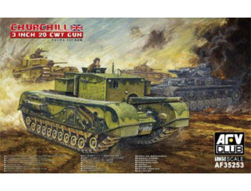 AFV-Club British 3 inch gun Churchill tank 1:35 (AF35253)
