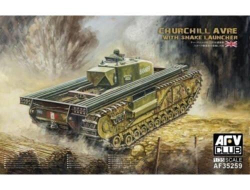 AFV-Club Churchill avre with snake launcher 1:35 (AF35259)