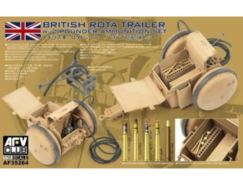 AFV-Club WW2 British Rota trailer W/2 Pounder Amm 1:35 (AF35264)