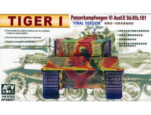AFV-Club TIGER I E LATE 1:48 (48001)