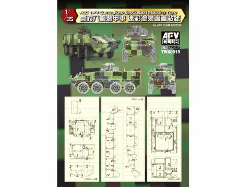 AFV-Club ROC Tifv Camouflage Specialized Masking Tape 1:35 (TW60019)