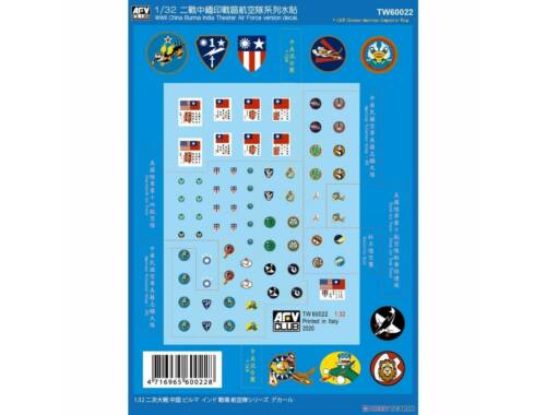 AFV-Club WWII China Burma India Theater Air Force Version decal 1:35 (TW60022)