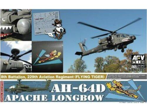 AFV-Club AH-64D Apache Longbow (the plastic parts of injection from ACADEMY) 1:72 (AR72S01)