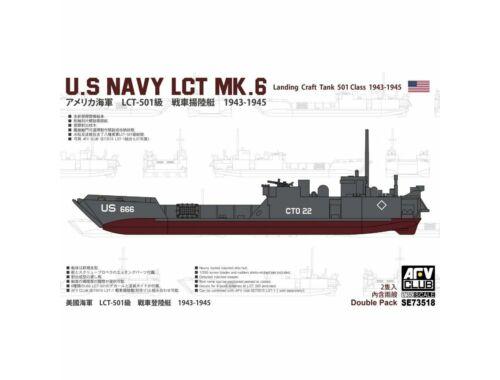 AFV-Club U.S. Navy LCT MK.6 landing Craft Tank 501 Class 1943-1945 1:350 (SE73518)