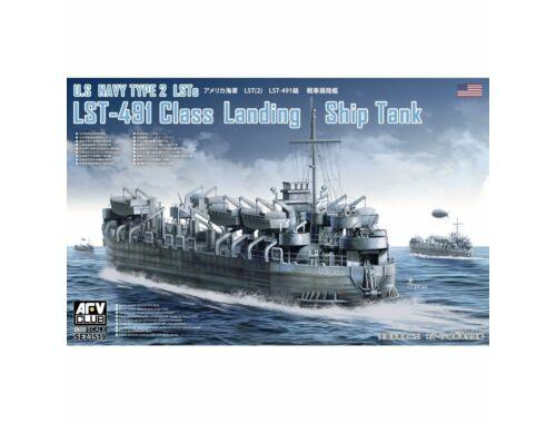 AFV-Club U.S. Navy Type 2 LSTs LST-491 Class Landing Ship Tank 1:350 (SE73519)