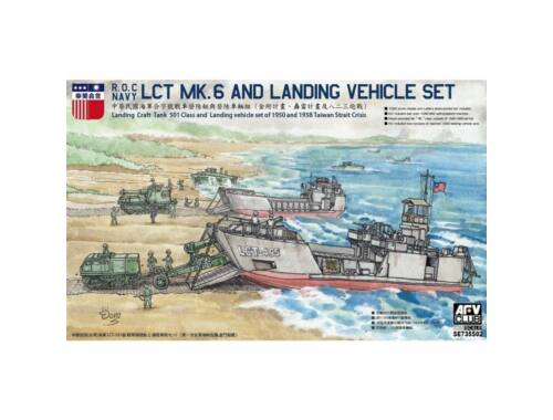AFV-Club R.O.C. Navy LCT MK.6 and Landing Vehicle Set 1:350 (SW735S02)