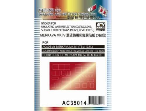 AFV-Club Sticker anti reflection for Merkava MkIV 1:35 (AC35014)