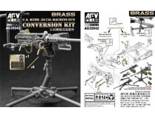 AFV-Club U.S. M2HB .50 Cal Machine Gun Con. Kit 1:35 (AG35042)