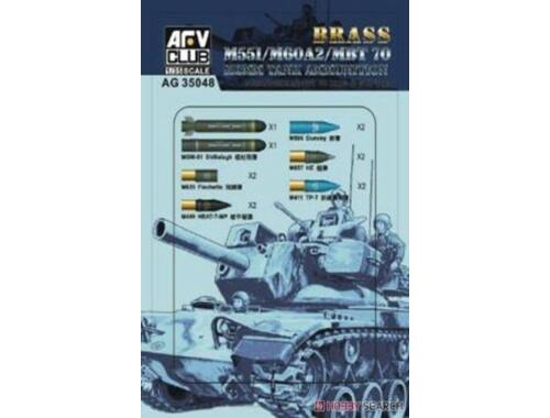 AFV-Club M551/60A/MBT70 152MM Ammunition (Brass) 1:35 (AG35048)