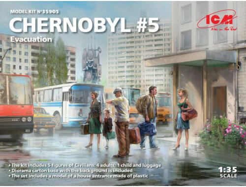ICM Chernobyl#5. Extraction (4 adults, 1 child and luggage) (100% new molds) 1:35 (35905)