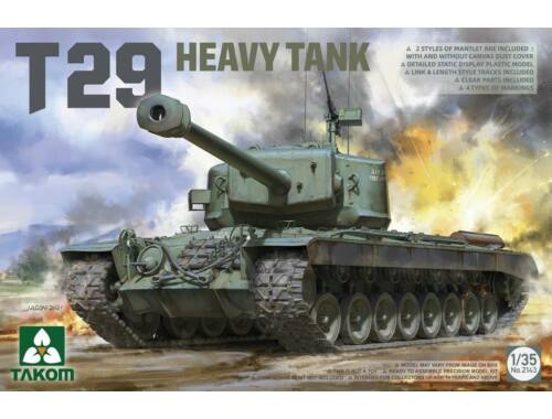 Takom U.S. Heavy Tank T29 1:35 (TAK2143)
