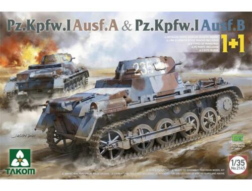 Takom Pz.Kpfw.I Ausf.A & Pz.Kpfw.I Ausf. B (1+1) 1:35 (TAK2145)