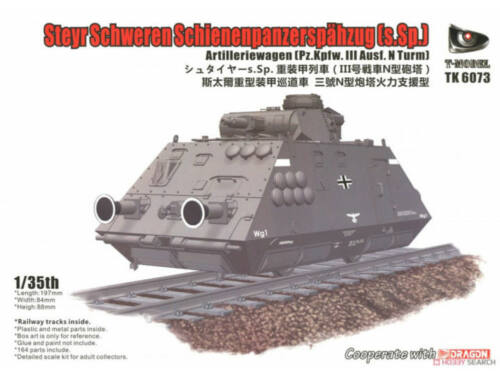 T-Model Steyr Schweren Schienenpanzerspähzug(s.SP)(Pz.Kpfw.III Ausf.N Turm 1:35 (TK6073)