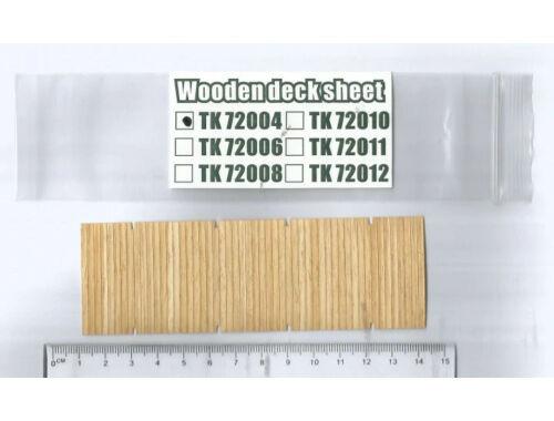 T-Model Wooden deck sheet German 50T Type SSYS Platformwagen 1:72 (TK72004)
